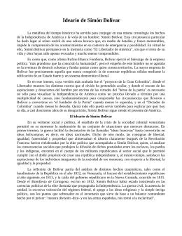 Ideario de Simón Bolívar