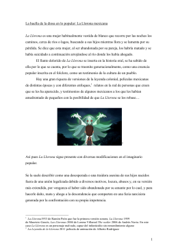1 La huella de la diosa en lo popular: La Llorona