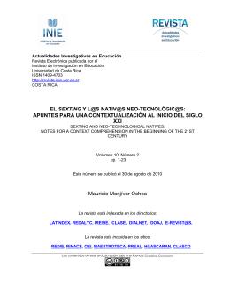 Descargar el archivo PDF - Revista Actualidades Investigativas en