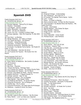 Spanish DVD