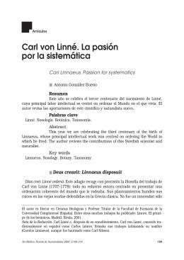 Carl von Linné. La pasión por la sistemática
