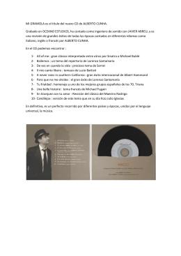 MI GRAMOLA es el título del nuevo CD de ALBERTO CUNHA