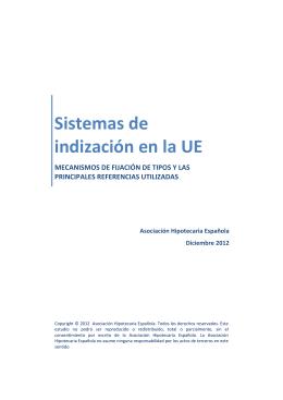 Sistemas de indización en la UE - Asociación Hipotecaria Española