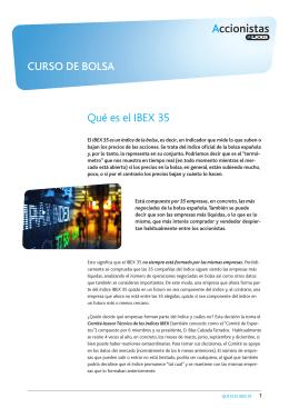 Qué es el IBEX 35 CURSO DE BOLSA