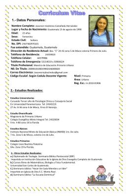 1.- Datos Personales - Trabajar en el Liceo Fráter