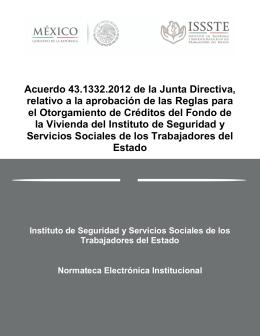 Acuerdo 43.1332.2012 de la Junta Directiva, relativo a