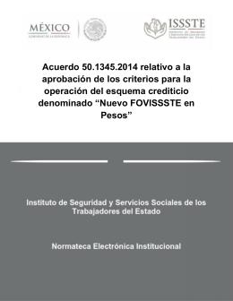 Acuerdo 50.1345.2014 relativo a la aprobación de los