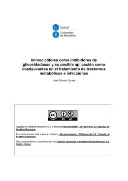 Iminociclitoles como inhibidores de glicosidadasas y su posible