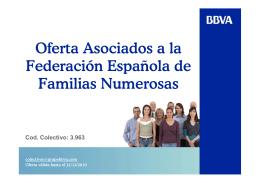 Oferta Asociados a la Federación Española de Familias Numerosas