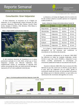 Conurbaciones - Gran Valparaiso