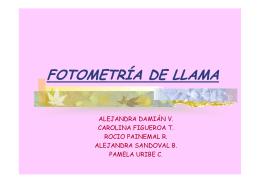 FOTOMETRÍA DE LLAMA