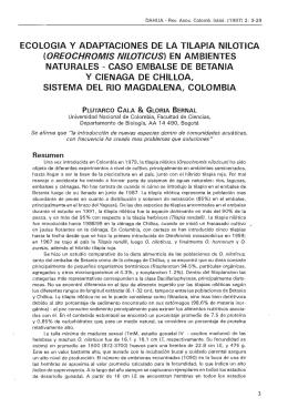 ECOLOGIA Y ADAPTACIONES DE LA TILAPIA NILOTICA