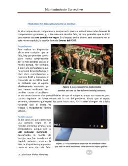 Problemas de arranque - Lic. Julio Cesar Muñoz Mancinas