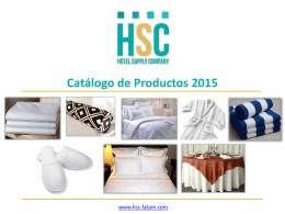 Catálogo - HSC - Hotel Supply Company