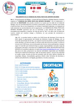 REGLAMENTO II Marcha del Pedal Fiesta del Deporte