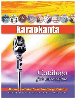 disco de oro - Karaokanta | Las Mejores Pistas con Graficas