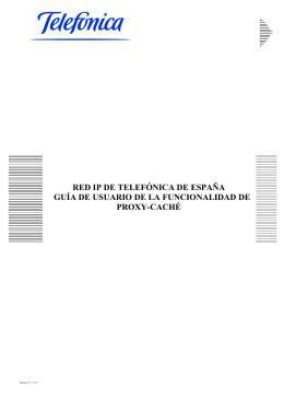 RED IP DE TELEFÓNICA DE ESPAÑA GUÍA DE