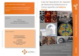 Curso de Capacitación de Operador de Instalaciones