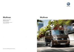 Multivan Multivan - Volkswagen Vehículos Comerciales