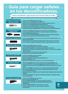 Guía para cargar señales en tus decodificadores.