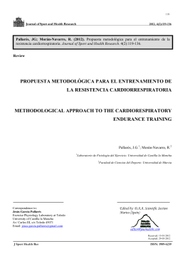 propuesta metodológica para el entrenamiento de la resistencia