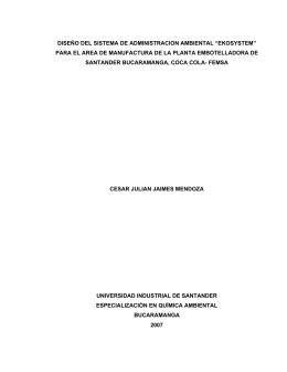 """diseño del sistema de administracion ambiental """"ekosystem"""" para el"""