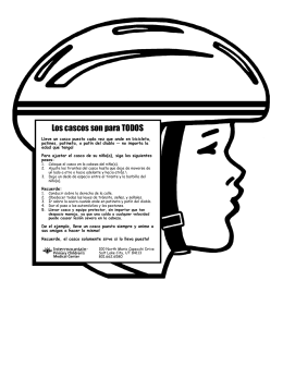 Children`s bike helmet safety spanish