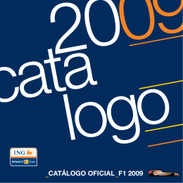 CATÁLOGO OFICIAL F1 2009