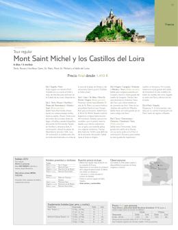 Mont Saint Michel y los Castillos del Loira