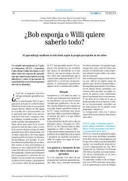 ¿Bob esponja o Willi quiere saberlo todo?