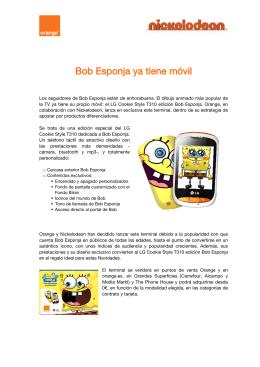 Bob Esponja ya tiene móvil