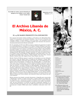 El Archivo Libanés de México, A. C.