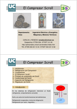 El Compresor Scroll El Compresor Scroll