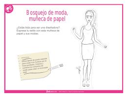 Bosquejo de moda, muñeca de papel Bosquejo de moda
