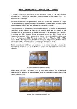 VISITA A DACSA (MAICERAS ESPAÑOLAS S.A.) (20/03