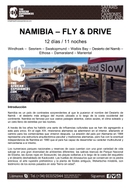 Namibia - Fly & Drive - TheAfricanExperiences.com