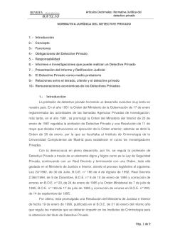 NORMATIVA JURÍDICA DEL DETECTIVE PRIVADO 1