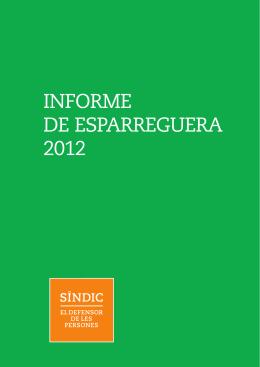 informe de esparreguera 2012 - Síndic de Greuges de Catalunya