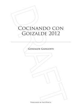 Cocinando con Goizalde 2012