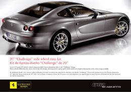 "20"" ""Challenge"" style wheel rims kit Kit de llantas diseño"
