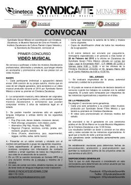 CONVOCAN - seduzac