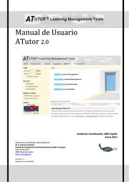 Manual de uso de ATutor