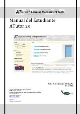 Manual de ATutor para el estudiante