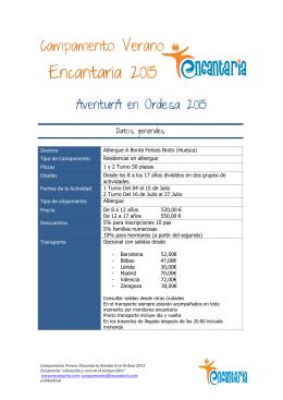 Ficha técnica AventurA en Ordesa 2015
