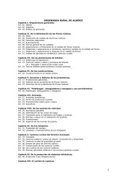 ORDENANZA RURAL DE ALBERIC