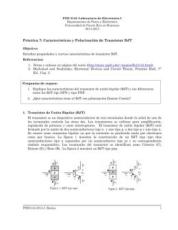 Práctica 7: Características y Polarización de Transistor BJT