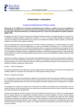 II.- AUTORIDADES Y PERSONAL - Gobierno de Castilla