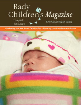 Rady Children`s Magazine 2010 Annual Report