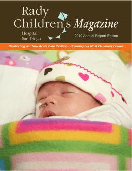 Rady Children`s Magazine 2010 Annual Report