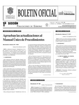 1º Sección: Legislación – Normativas - Boletín Oficial de la Provincia